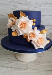 Navy Blue Birthday Cake