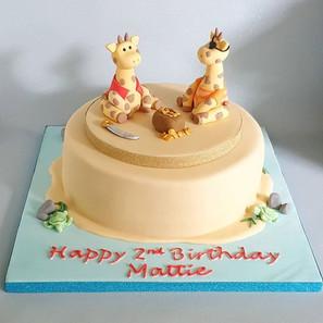 Pirate Giraffe Cake