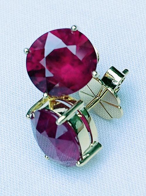 African Ruby Earrings