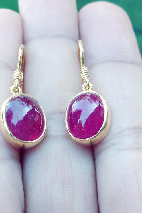 Beautiful African Ruby Earrings