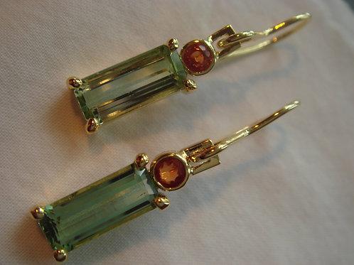 beautiful Tourmaline and orange sapphires