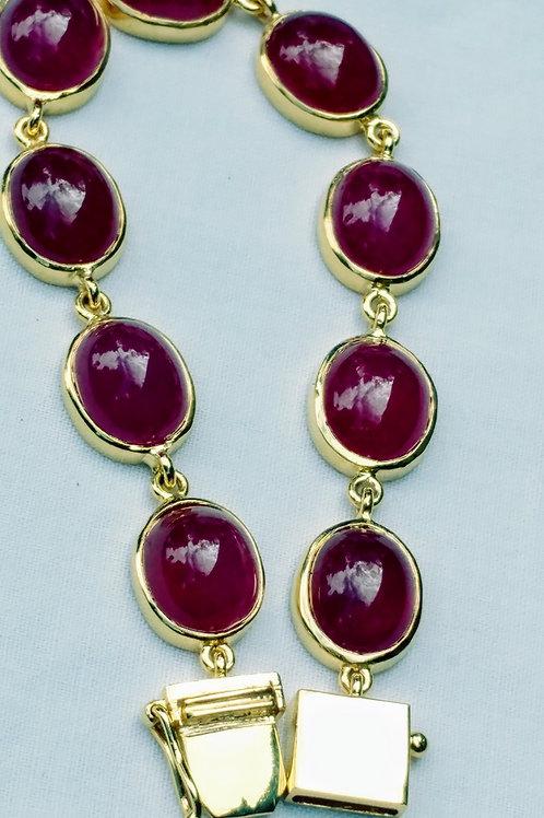 Beautiful African Ruby bracelet