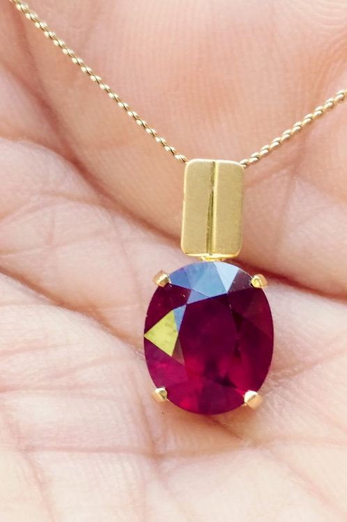 Beautiful Hand Make African Ruby Pendent