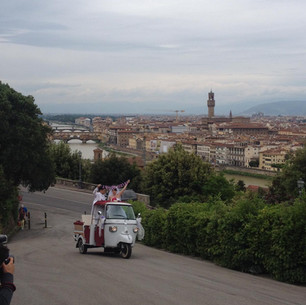 Going to the Piazzale Michelangelo , Firenze.