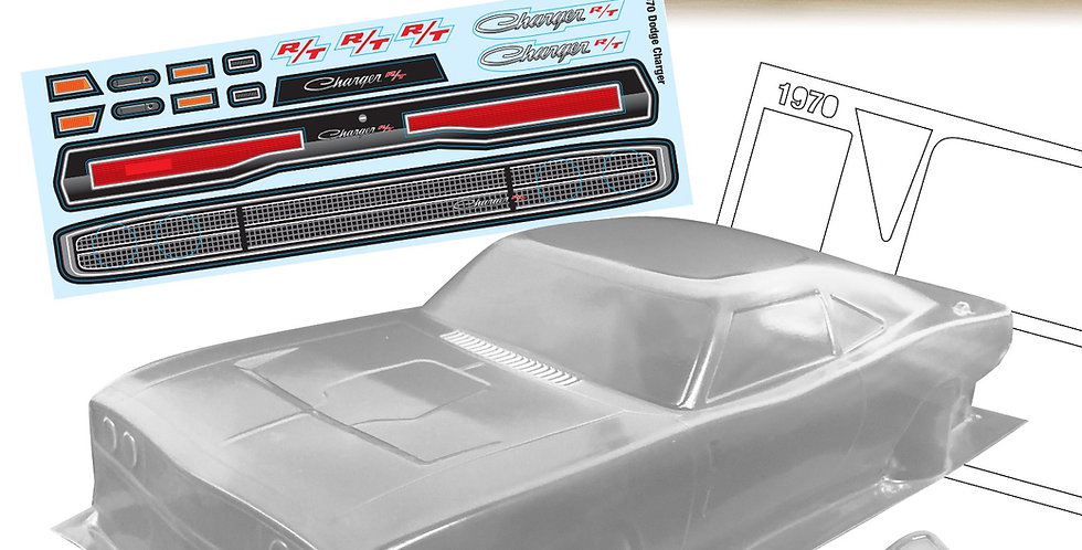 1970 1/10 Dodge Charger, 200mm