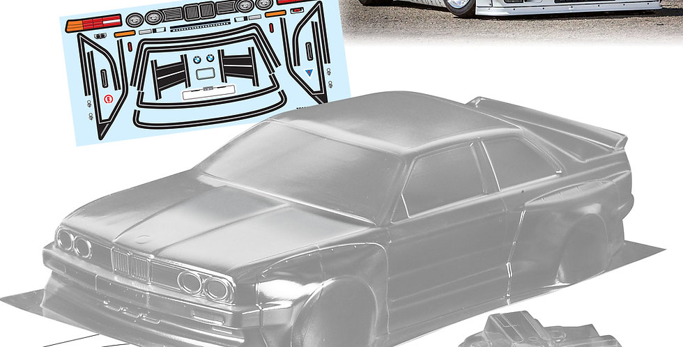 TC003 1/10 BMW E30 M3, 200mm