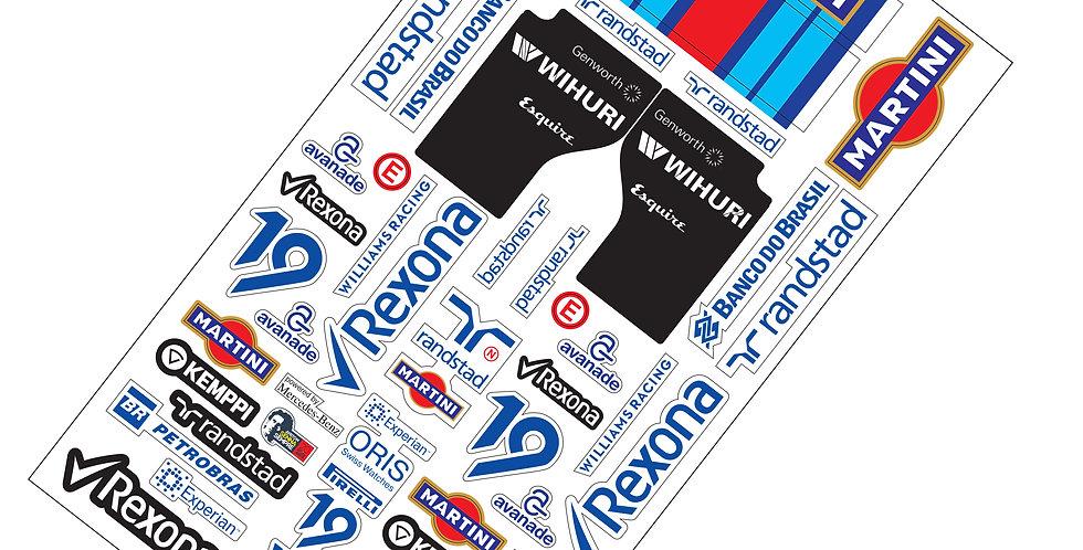 F1 Sticker Williams Martini