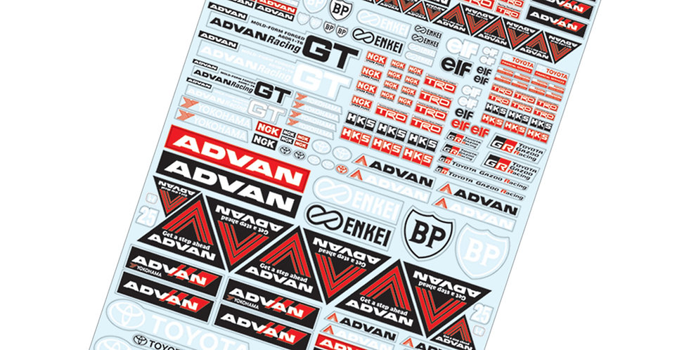 TC903 1/10 Advan Sticker, A4