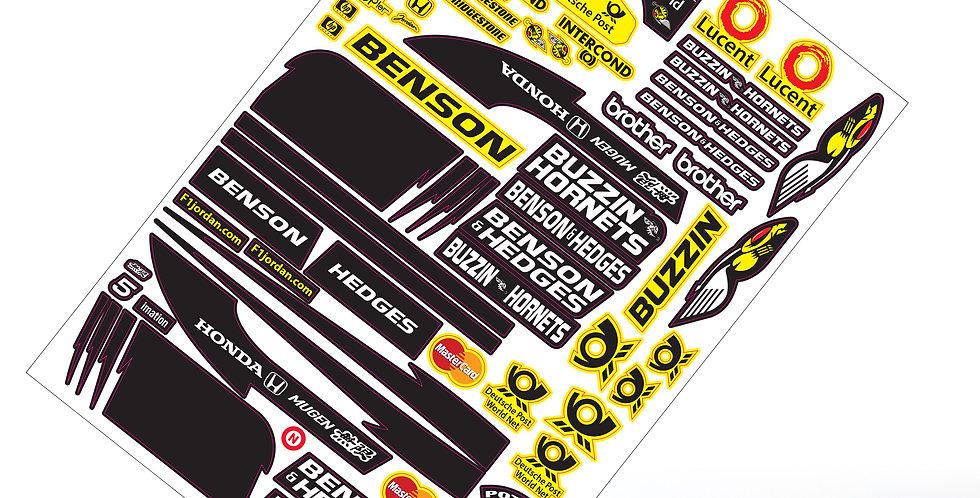 F1 Sticker  Buzzin Hornets