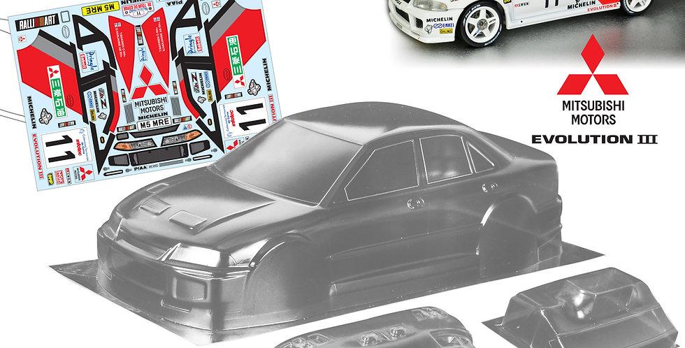 TM235 1/10 Mini Mitsubishi Evolution III, 225mm