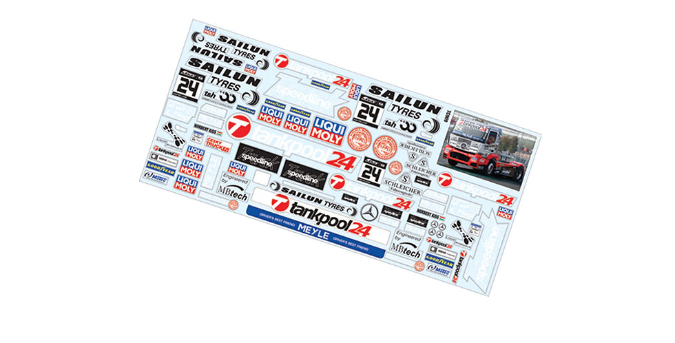 TC909 1/10 Mini Truck Sticker
