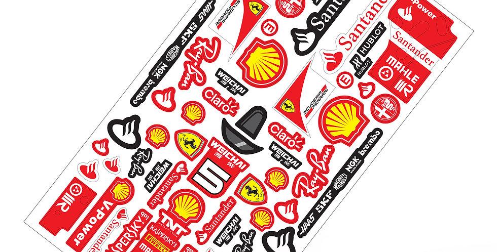 F1 Sticker Scuderia Ferrari