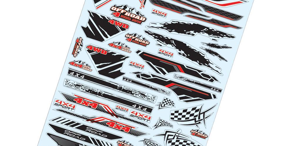 TC911 1/10 Off Road Sticker, A4