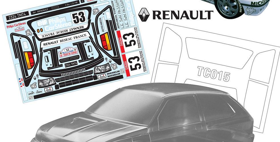 TC015 1/10 Renault Clio, 190mm