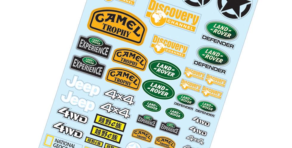 TC915 1/10 Crawler Sticker, A4