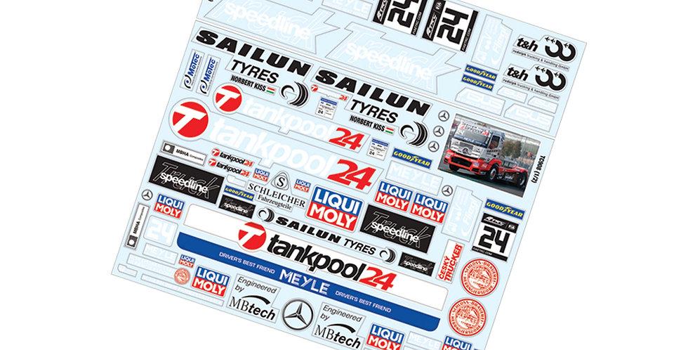 TC908 1/8 Truck Sticker