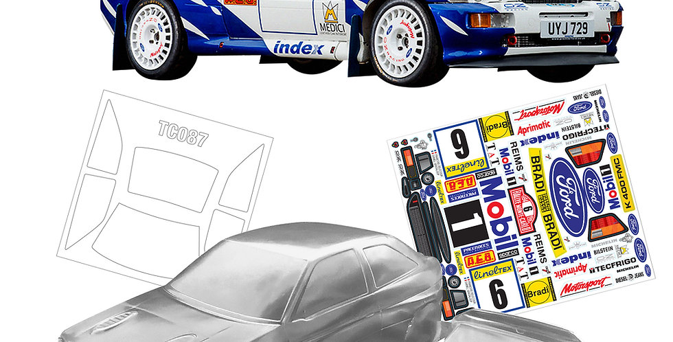 TC087 1/10 Ford Escort Cosworth