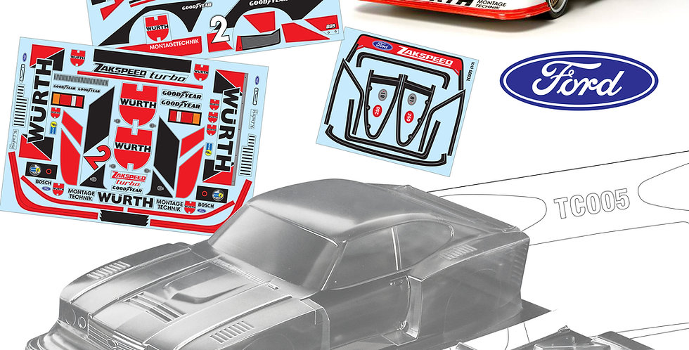 TC005 1/10 Ford Zakspeed Capri Gr5, 190mm