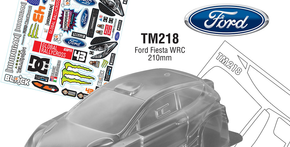 TM218 1/10 Mini Ford Fiesta WRC