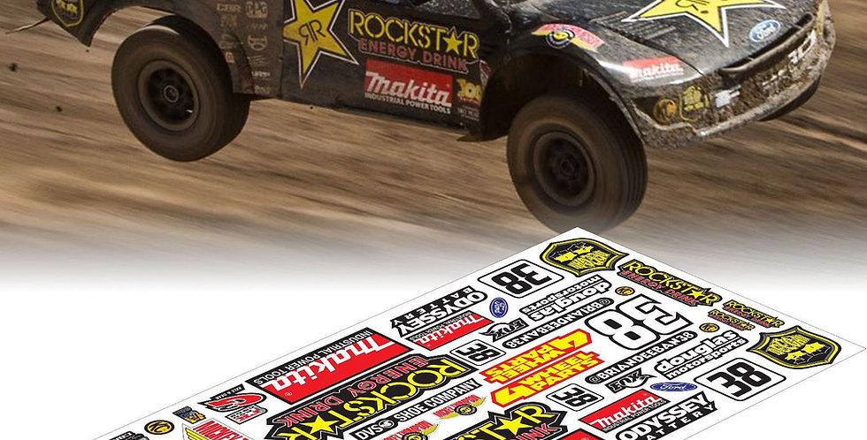 TS501 Rockstar SC Sticker, 20x40cm
