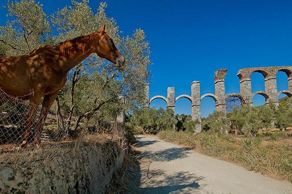 Aqueduc romain près de Mitilène © Luc Teper
