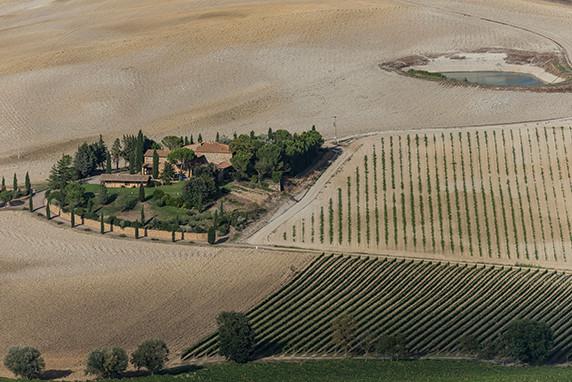 La campagne vue des remparts de Montalcino ©Luc Teper
