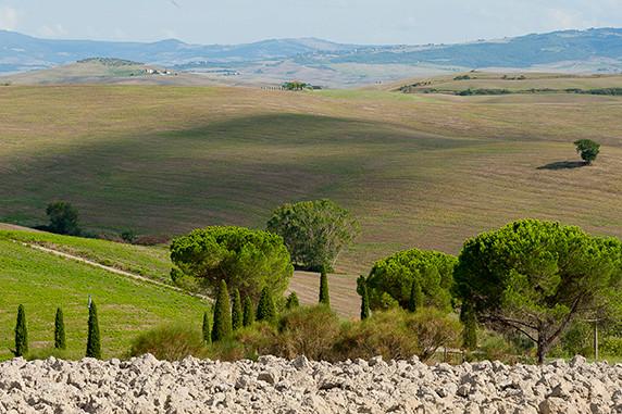 Entre Pienza et San Quirico ©Luc Teper