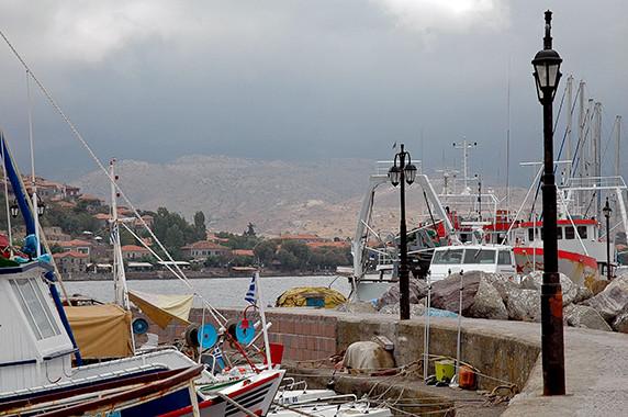 Le port de Molyvos © Luc Teper