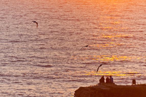 Coucher de soleil à Zambujeira do Mar © Luc Teper