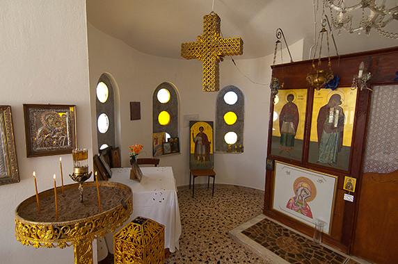 L'intérieur de la chapelle de Mitilène © Luc Teper