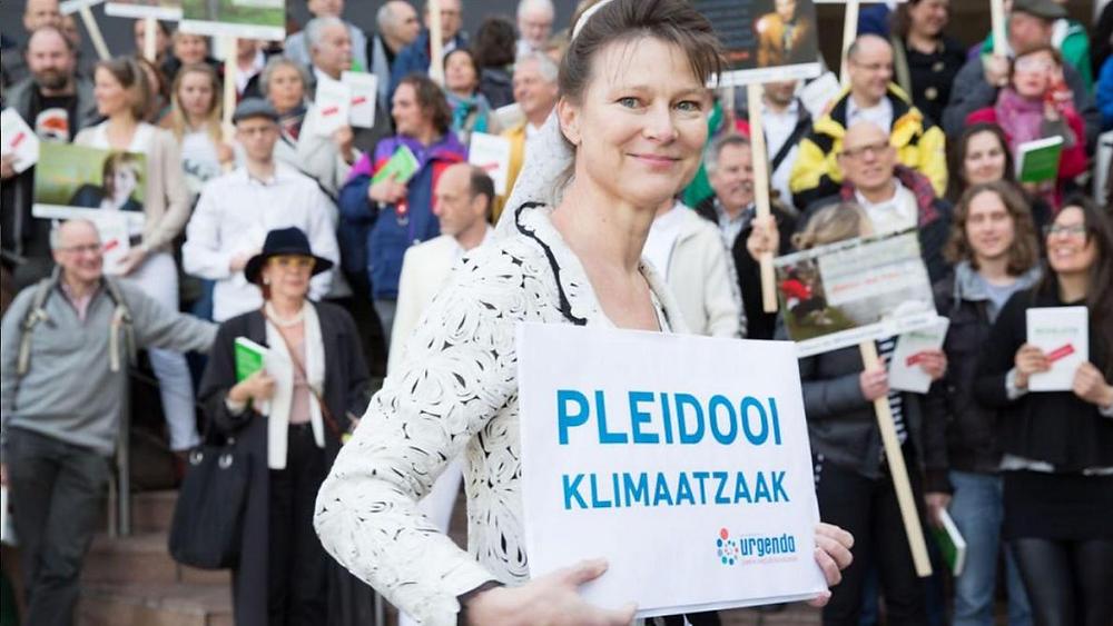 Marjan Minnesma, la directrice d'Urgenda, la Fondation qui a lancé une action en justice contre l'Etat néerlandais