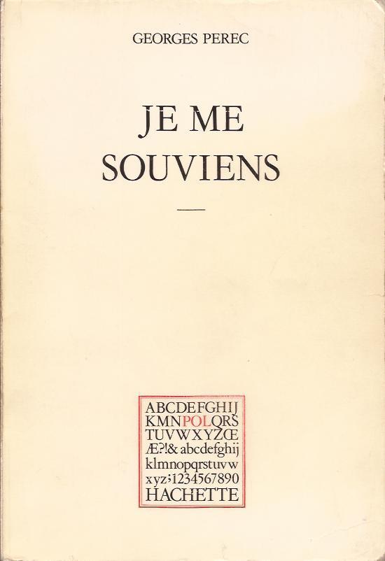 Perec - couverture de JMS 1978 (1)