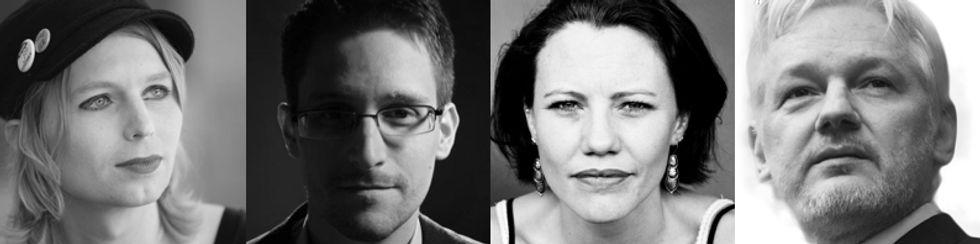 Chelsea Manning, Edward Snowden, Sarah Harrison, Julian Assange.jpg