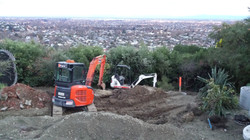 Laying Drains above Chch