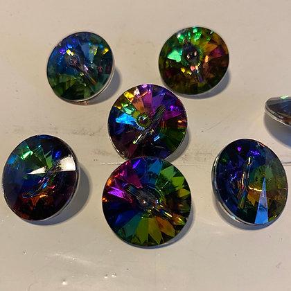Regnbuefarvet krystal, 18 mm