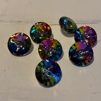 Regnbuefarvet krystal, 15 mm