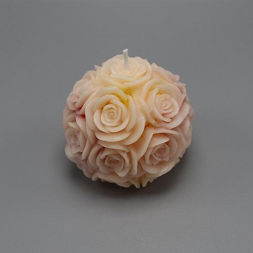 Ihre persönliche 2-farbige Rosenkerze (Kugel)