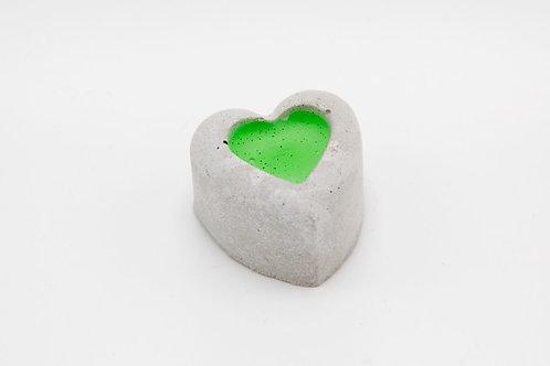 Beton-Herz (grün)