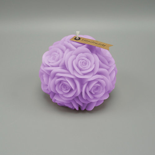 Rosenkerze (lila)