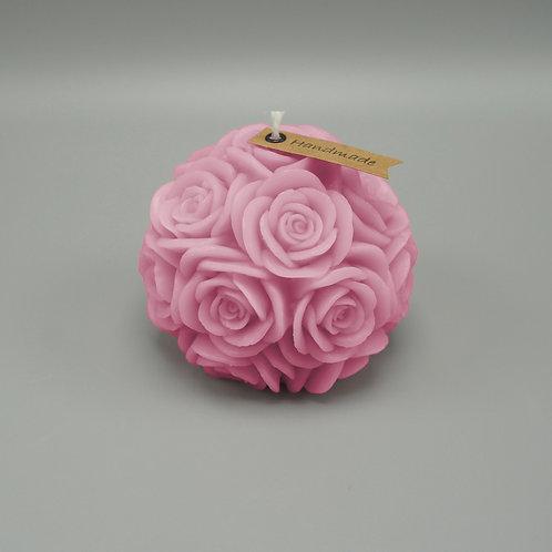 Rosenkerze (pink)