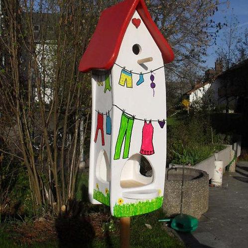 Vogelhaus Wäsche