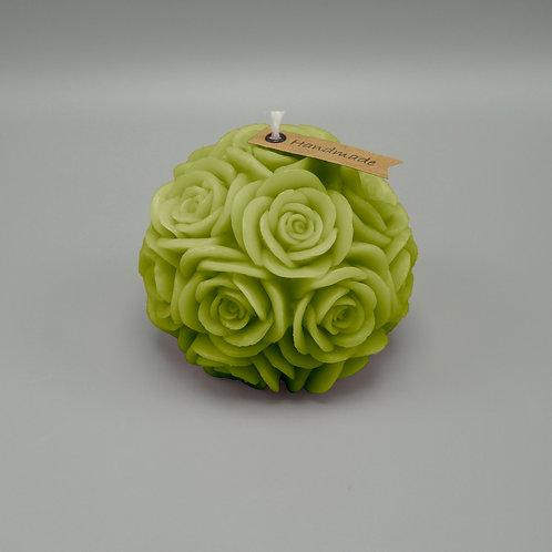 Rosenkerze (olivgrün)