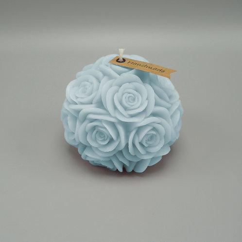 Rosenkerze (hellblau)