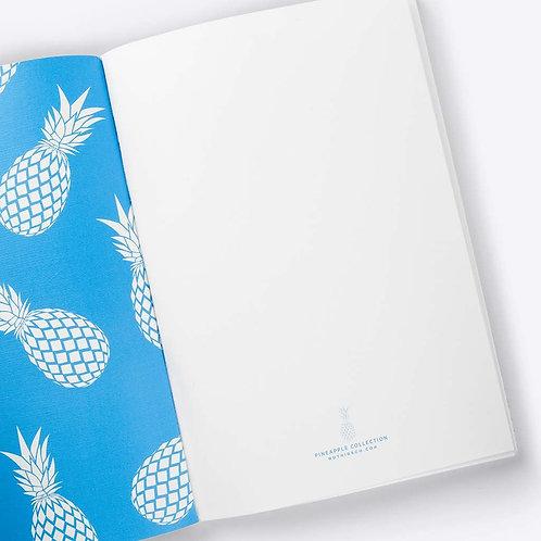 Ananas Notizbuch (blau)