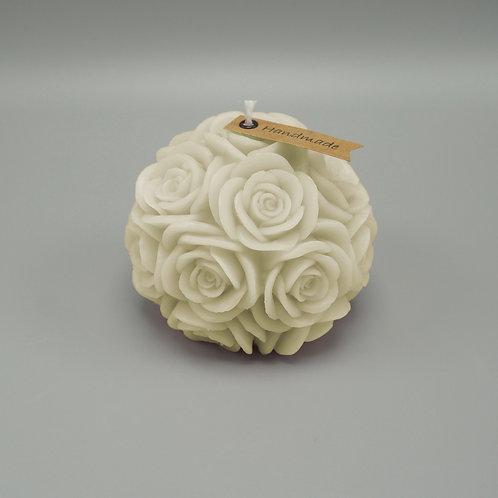 Rosenkerze (elfenbein)