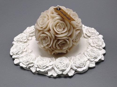 Rosenteller oval klein (ohne Deko)