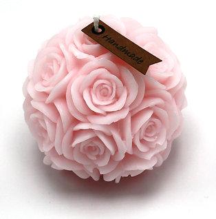 Rosenkerze (rosa)