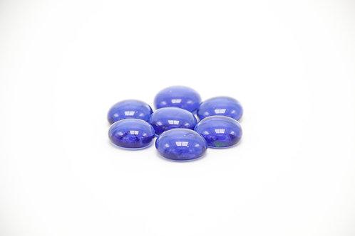 Glas-Perlen blau