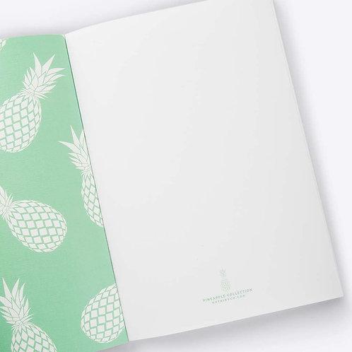 Ananas Notizbuch (minze)