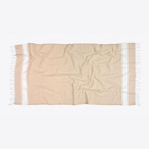 Handtuch aus Baumwolle Beige